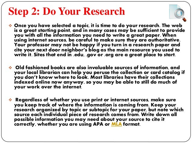 steps to write research paper Introduction if you have just been told that you have to write a research paper and feel a bit intimidated, we hope the following steps will.