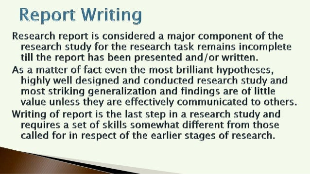 Report Writing - Meaning, Steps  & Importance of Report Writing