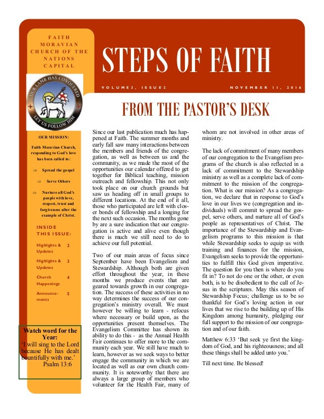 Since our last publication much has hap- pened at Faith. The summer months and early fall saw many interactions between th...
