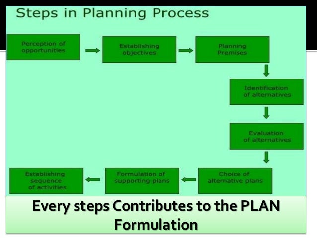 Planning Process in Management (8 Steps)