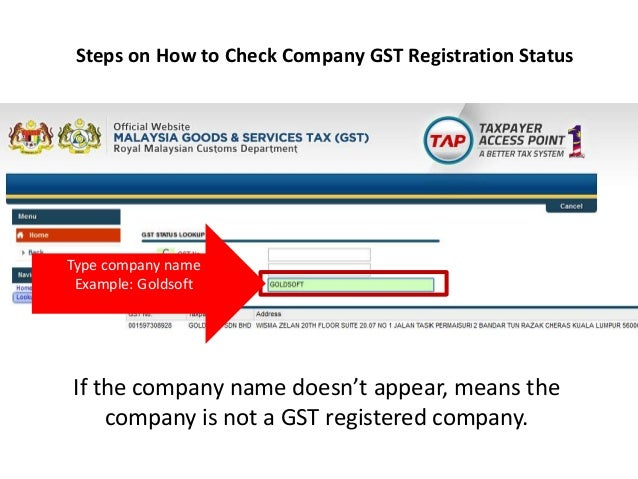 example of registered company