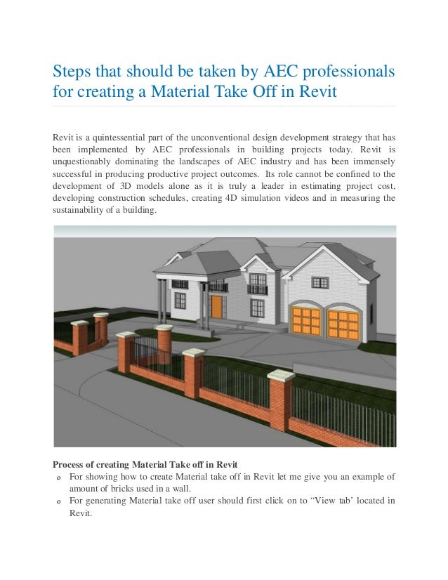 Steps that should be taken by AEC professionals for creating
