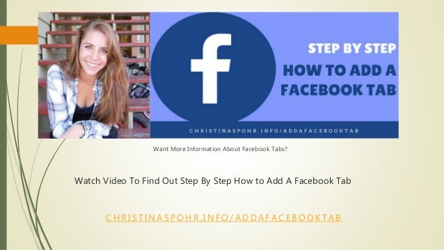 how to add a tab to facebook