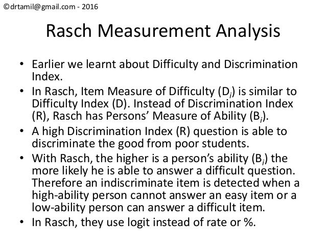 an analysis of discrimination Tutorial that explains measurement system analysis  or discrimination of the measurement device must be small relative to the smaller of either the.