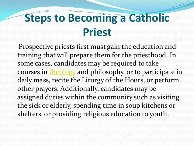 Steps to becoming a catholic priest by father jeff fasching