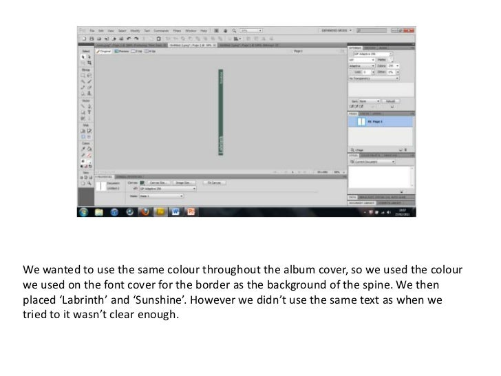 making cd cover