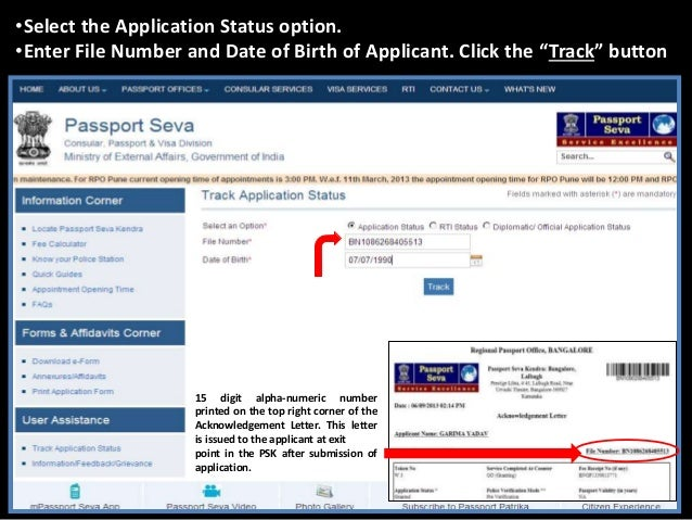 Steps To Check Application Status
