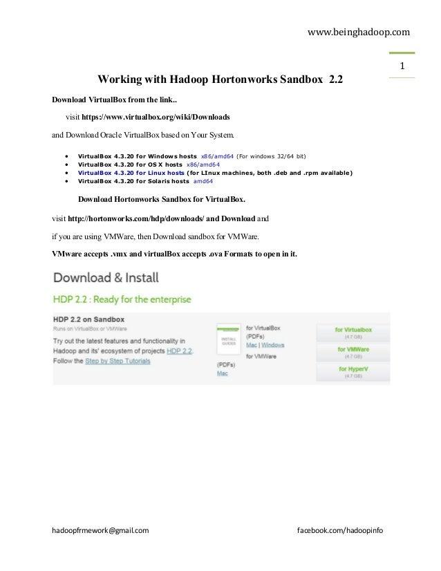 Steps To Configure Hortonworks Sandbox With Screen Shots