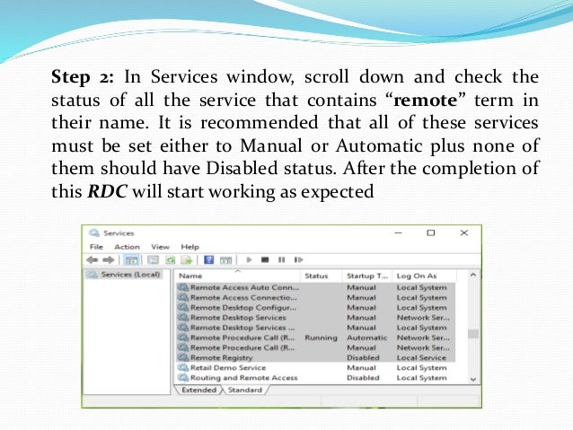 Steps to fix remote desktop connection has stopped working in windows…