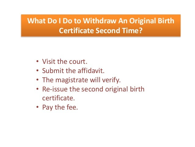 Steps to get your birth certificate reissued for passport issue non availability of birth certificate 7 yadclub Image collections
