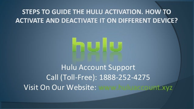 How to deactivate hulu