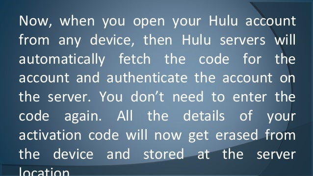 Steps To Guide The Hulu Activation  How To Activate And Deactivate It…