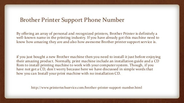 Steps to install a brother printer without cd rom