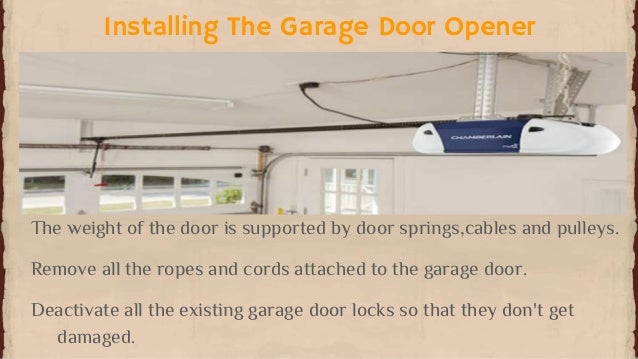 installing the garage door opener - How To Install A Garage Door Opener