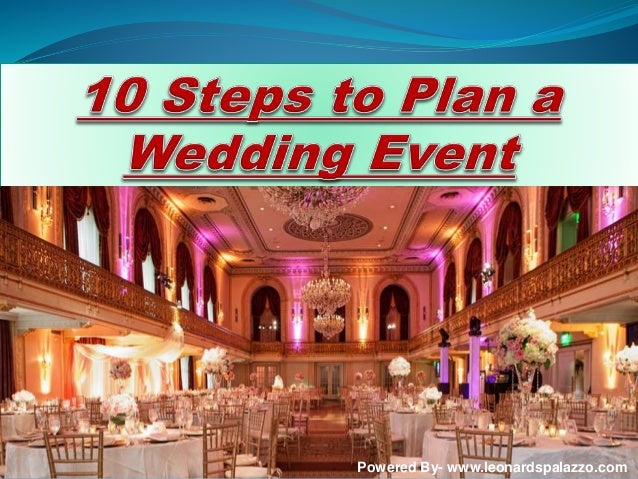 Steps To Plan A Wedding Event