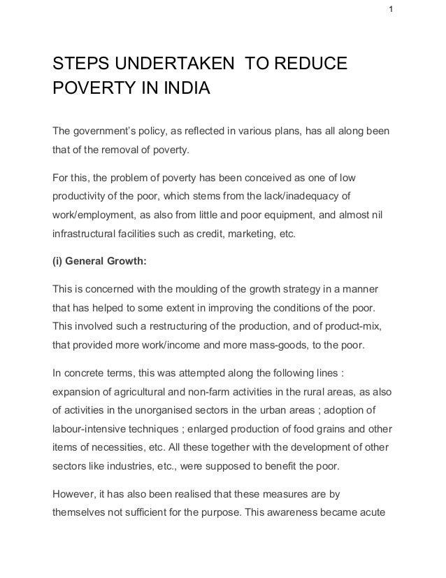 Solve poverty essay