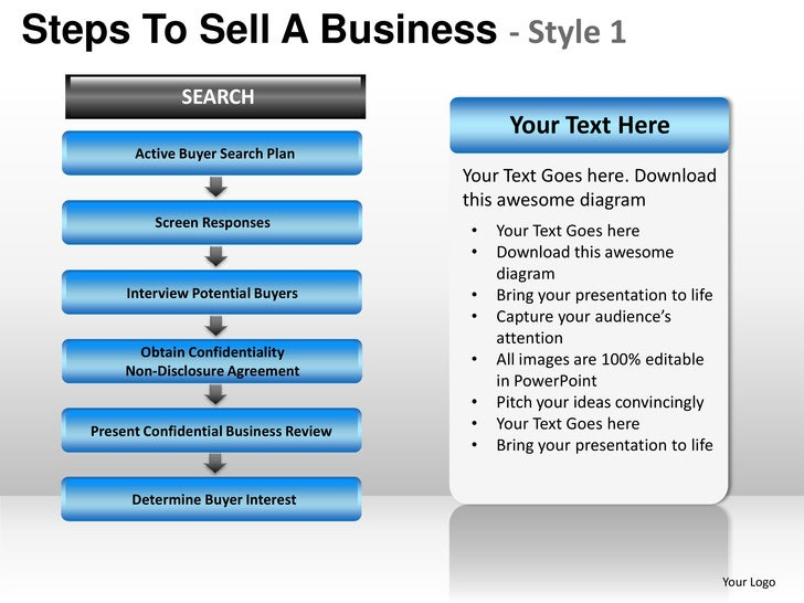 Steps to sell a business style 1 powerpoint presentation templates