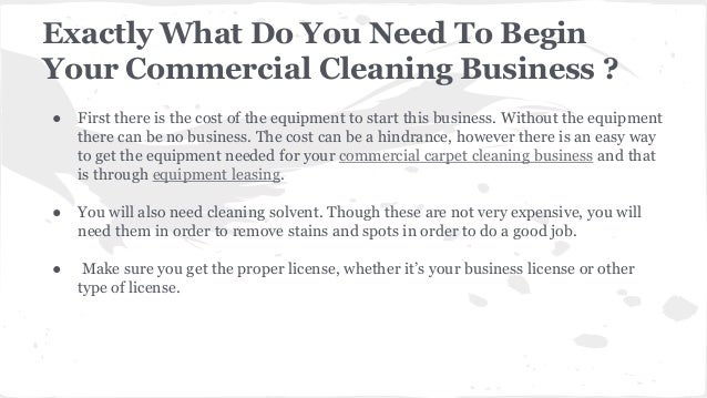 Steps to Start A Commercial Carpet Cleaning Service Business