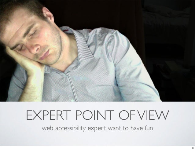 EXPERT POINT OF VIEW  web accessibility expert want to have fun                                              3
