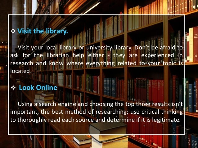 Steps in writing library research paper        Original