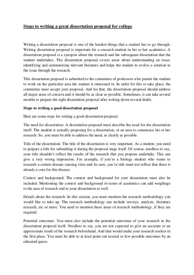 Dissertation proposals in social work