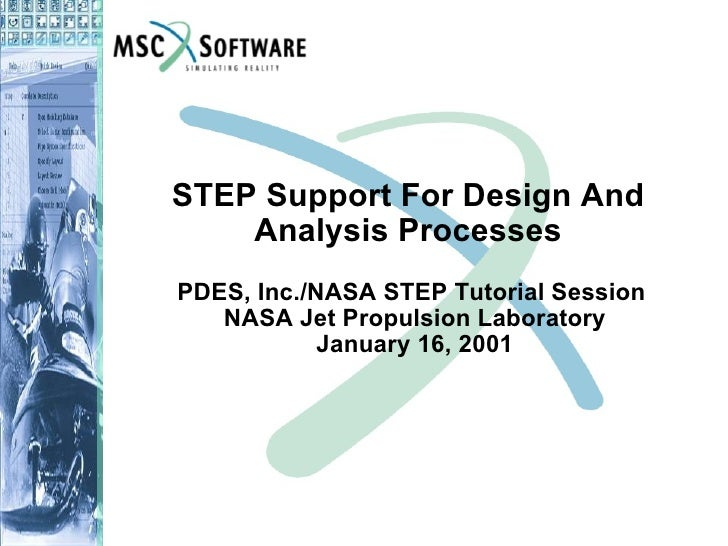 STEP Support For Design And Analysis Processes PDES, Inc./NASA STEP Tutorial Session  NASA Jet Propulsion Laboratory Janua...
