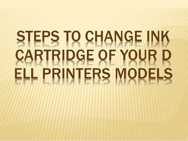 how to change printer ink