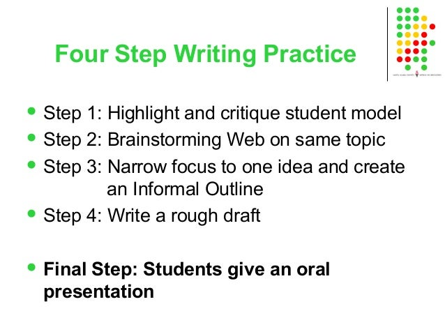 step up to writing outline