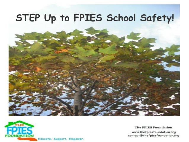 STEP Up to FPIES School Safety!
