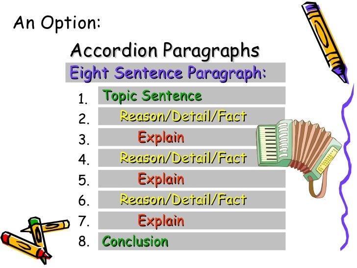 how to write an eight sentence paragraph