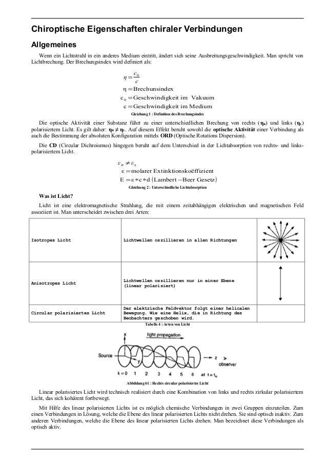 Stereochemie Organischer Verbindungen