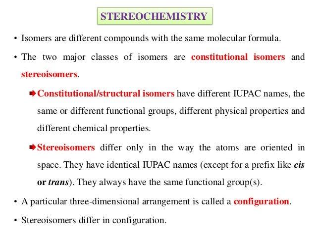 Stereochemistry-Organic Chemistry Slide 2
