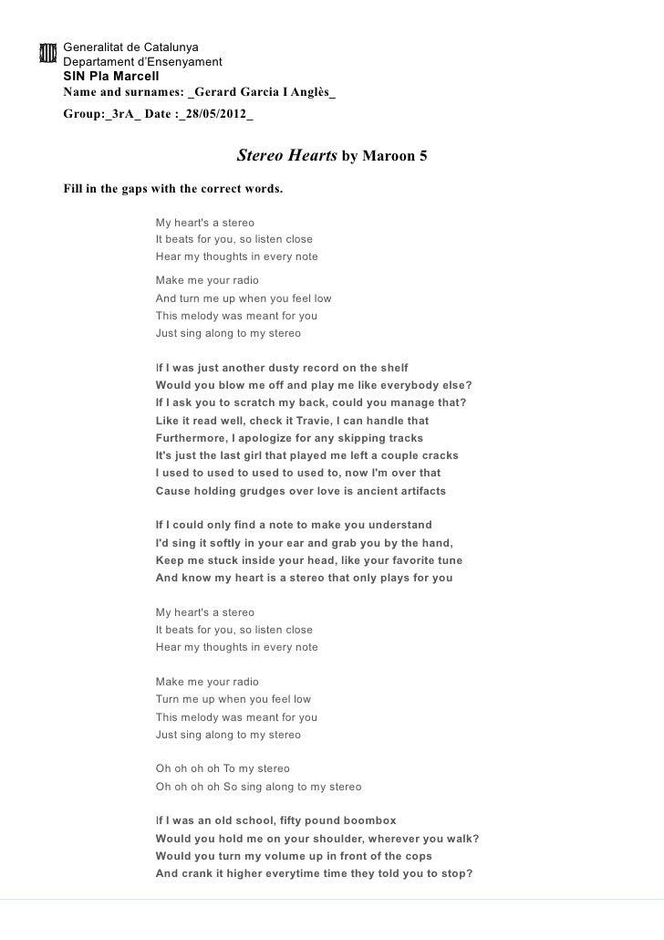 Stereo Hearts Bymaroon5