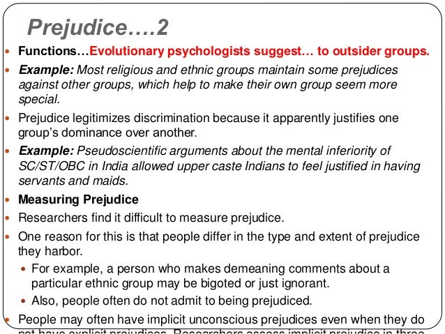 a description of prejudice as a word and not a particular viewpoint Distinguish between reasonable opinions and irrational prejudice recognize the ways in which viewpoint affects what an individual says, writes, and reads compose a biased account of an event from a particular individual's viewpoint examine articles to identify author's purpose and to identify evidence of biased thinking.