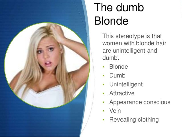 dumb blonde stereotype
