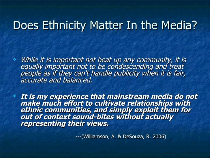 media stereotyping Stereotyping is a product of culture, therefore, mass media have a strong influence in supporting and tearing down stereotypical characteristics so why do stereotypes persist three key factors.