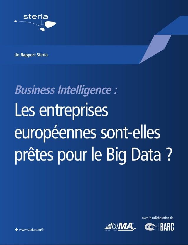 Business Intelligence : Les entreprises européennes sont-elles prêtes pour le Big Data ? è www.steria.com/fr Un Rapport St...