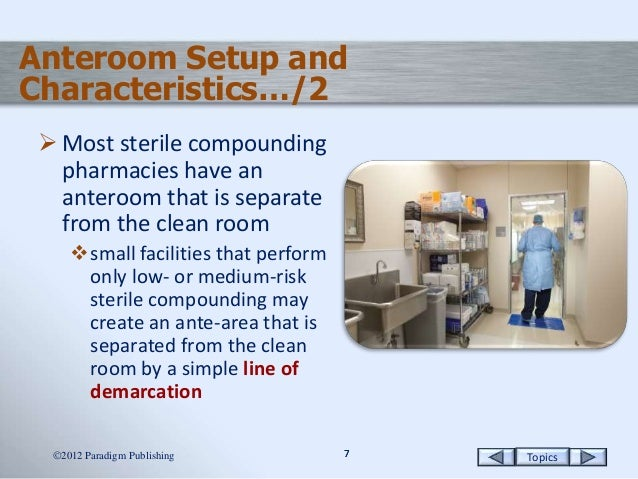 The Sterile Compounding Environment