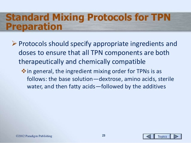 how to calculate tpn order