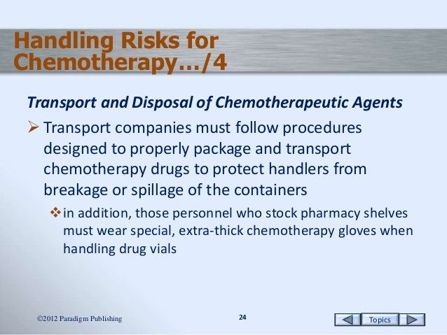 Chemotherapy Products and Procedures