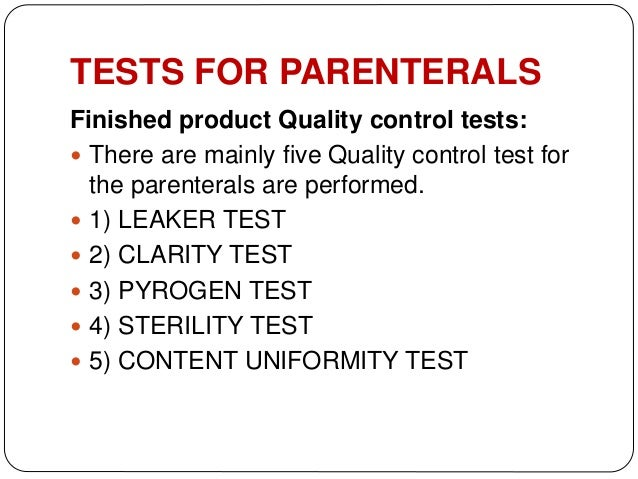 quality control of parenterals sterile product  control tests  visual inspection 25