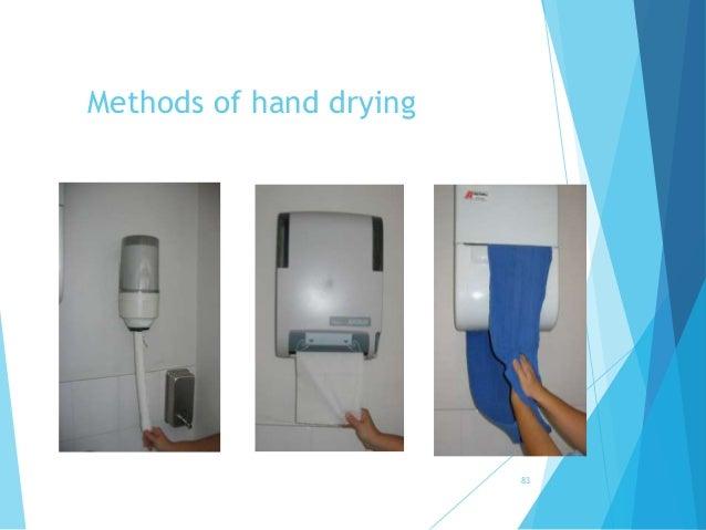 Methods of hand drying 83