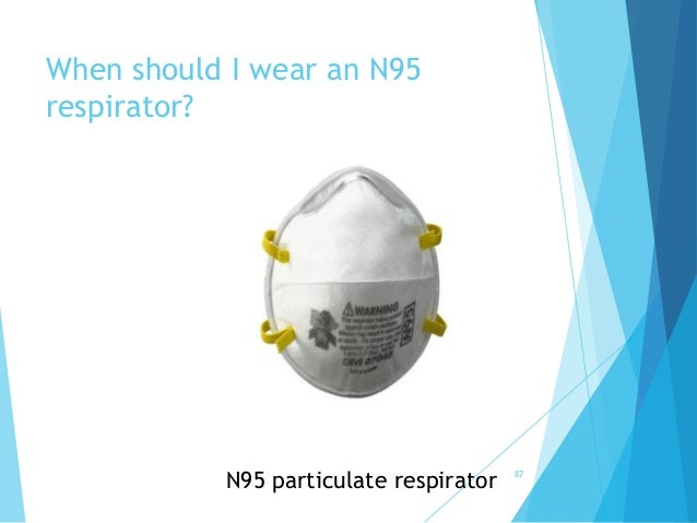 When should I wear an N95 respirator? N95 particulate respirator 87