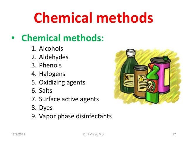 Chemical methods• Chemical methods:            1.   Alcohols            2.   Aldehydes            3.   Phenols            ...