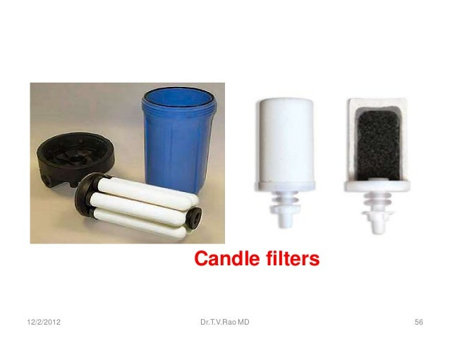 Candle filters12/2/2012   Dr.T.V.Rao MD    56