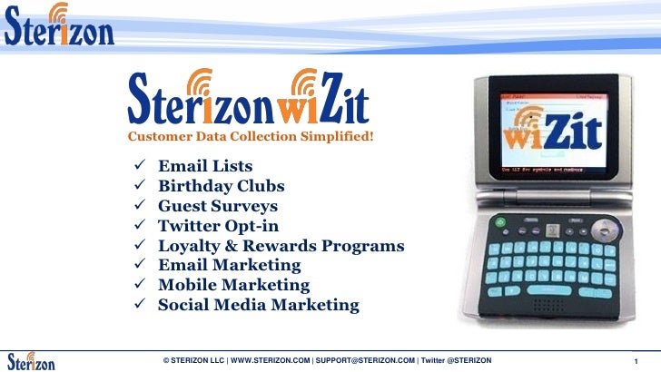 Customer Data Collection Simplified!     Email Lists    Birthday Clubs    Guest Surveys    Twitter Opt-in    Loyalty ...