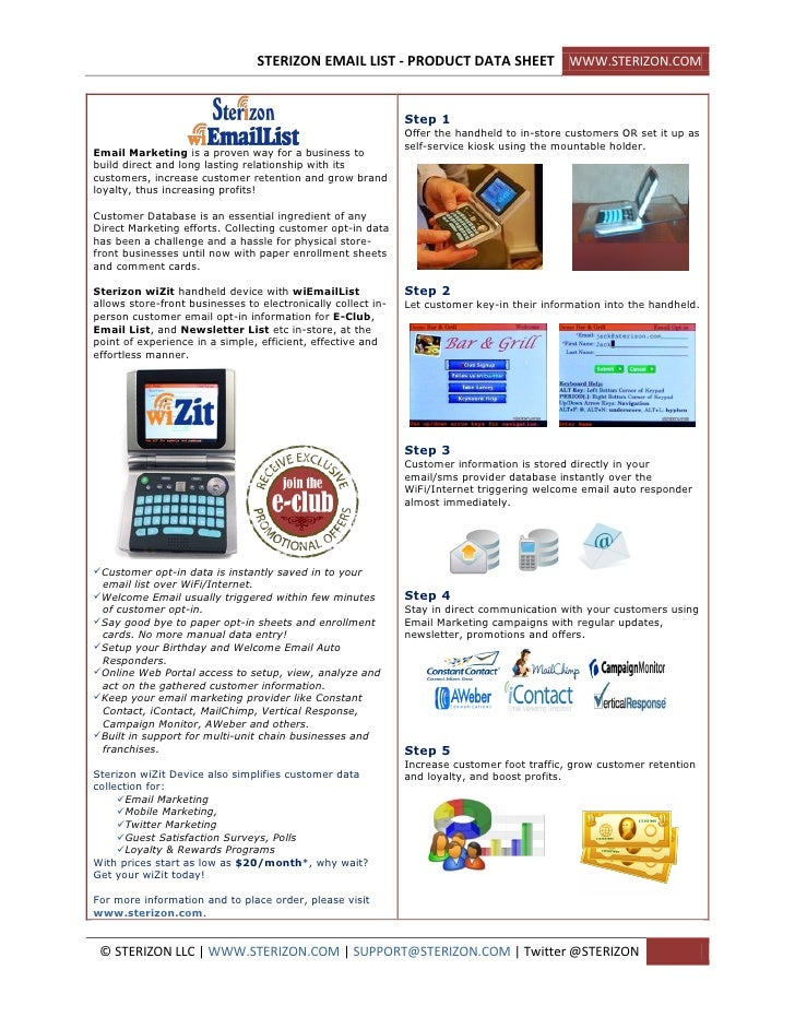 STERIZON EMAIL LIST - PRODUCT DATA SHEET WWW.STERIZON.COM                                                                 ...
