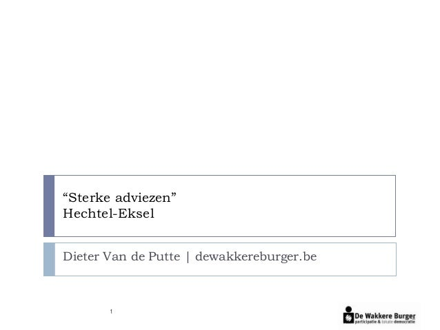 """Sterke adviezen""Hechtel-EkselDieter Van de Putte 