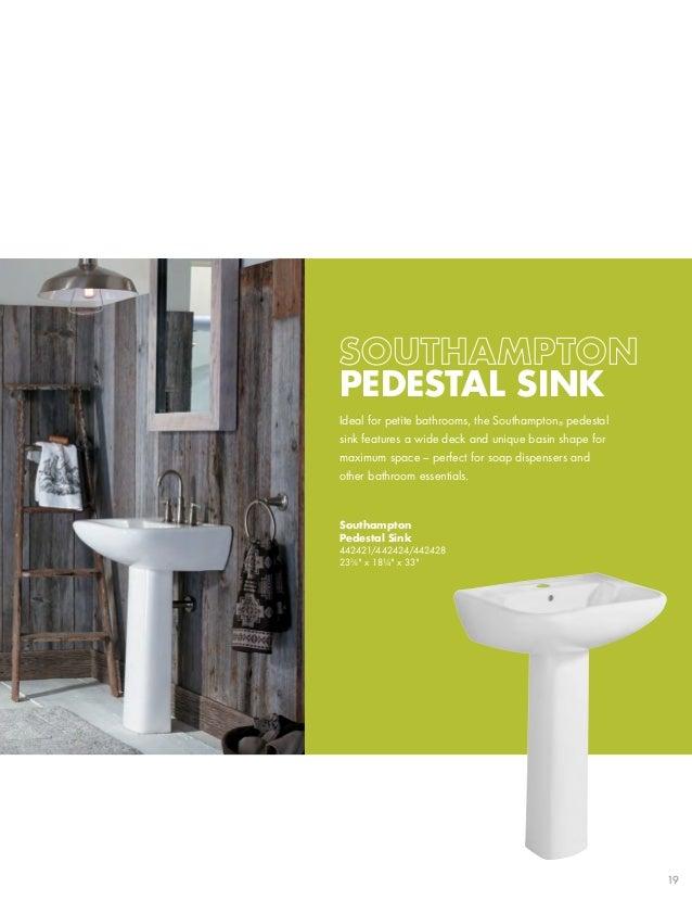 Southampton Pedestal Sink 442421/442424/442428 233 U20448 X 18¼ X 33; 19.