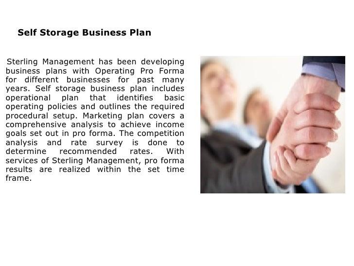 self storage business plan